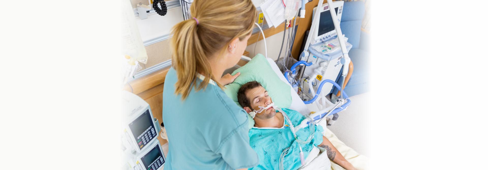 nurse assisting customer patient