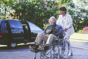 Caregiver with her elderly patient